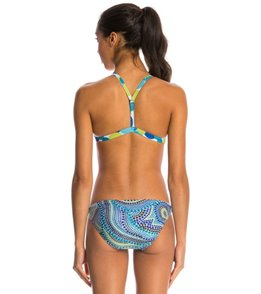 Illusions Dot 2 Dot Blue Green Two Piece Swimsuit Set