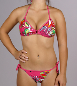28835baa3d2f6 ... Body Glove Swimwear Swim Tattoo Mania Baby Love Bikini Top ...