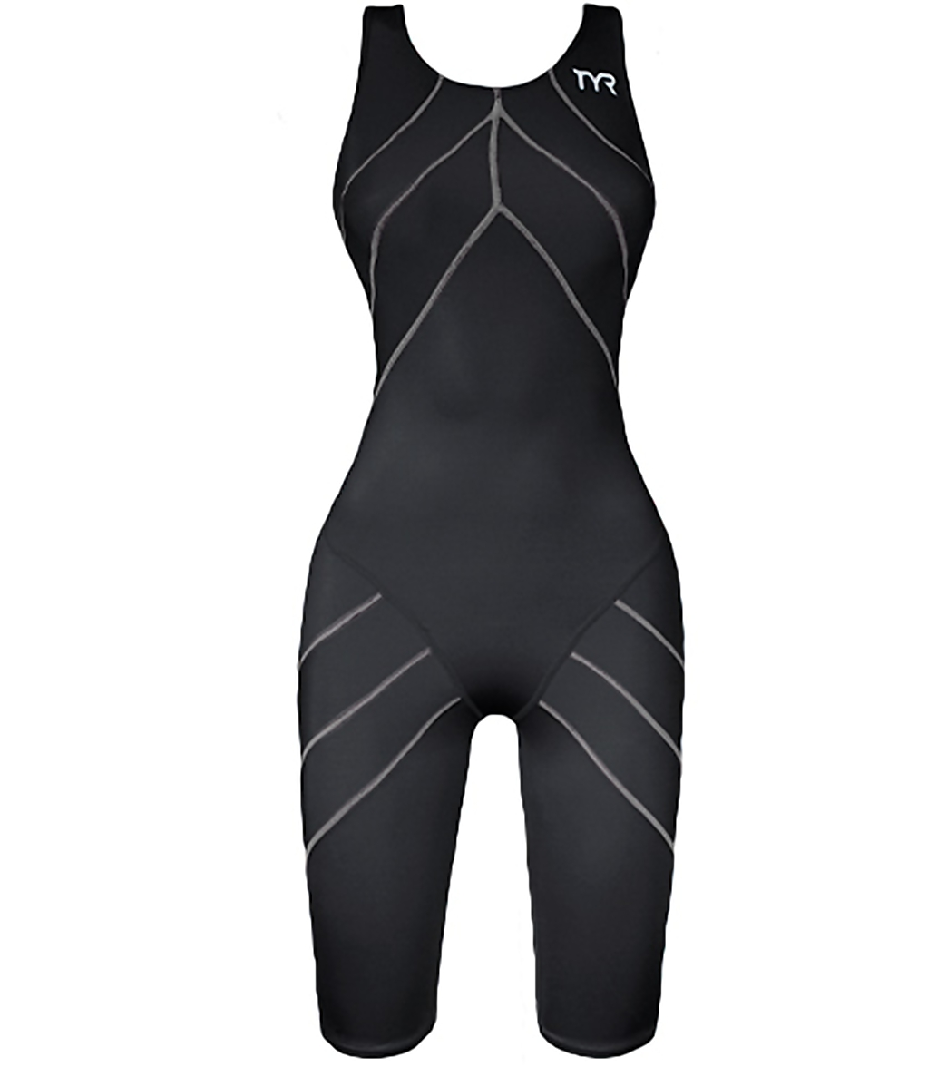 TYR Aquapel Female Short John Aeroback Tech Suit Swimsuit at SwimOutlet.com  - Free Shipping 4b3402370