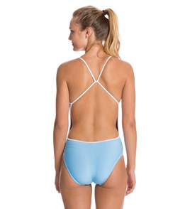 Splish Harry Super Thin Strap One Piece Swimsuit Blue