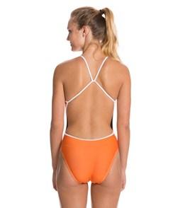 Splish Lloyd Orange Super Thin Strap One Piece Swimsuit