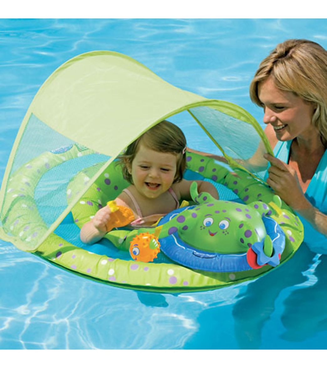Swimways Baby Spring Float Activity Center W Canopy At