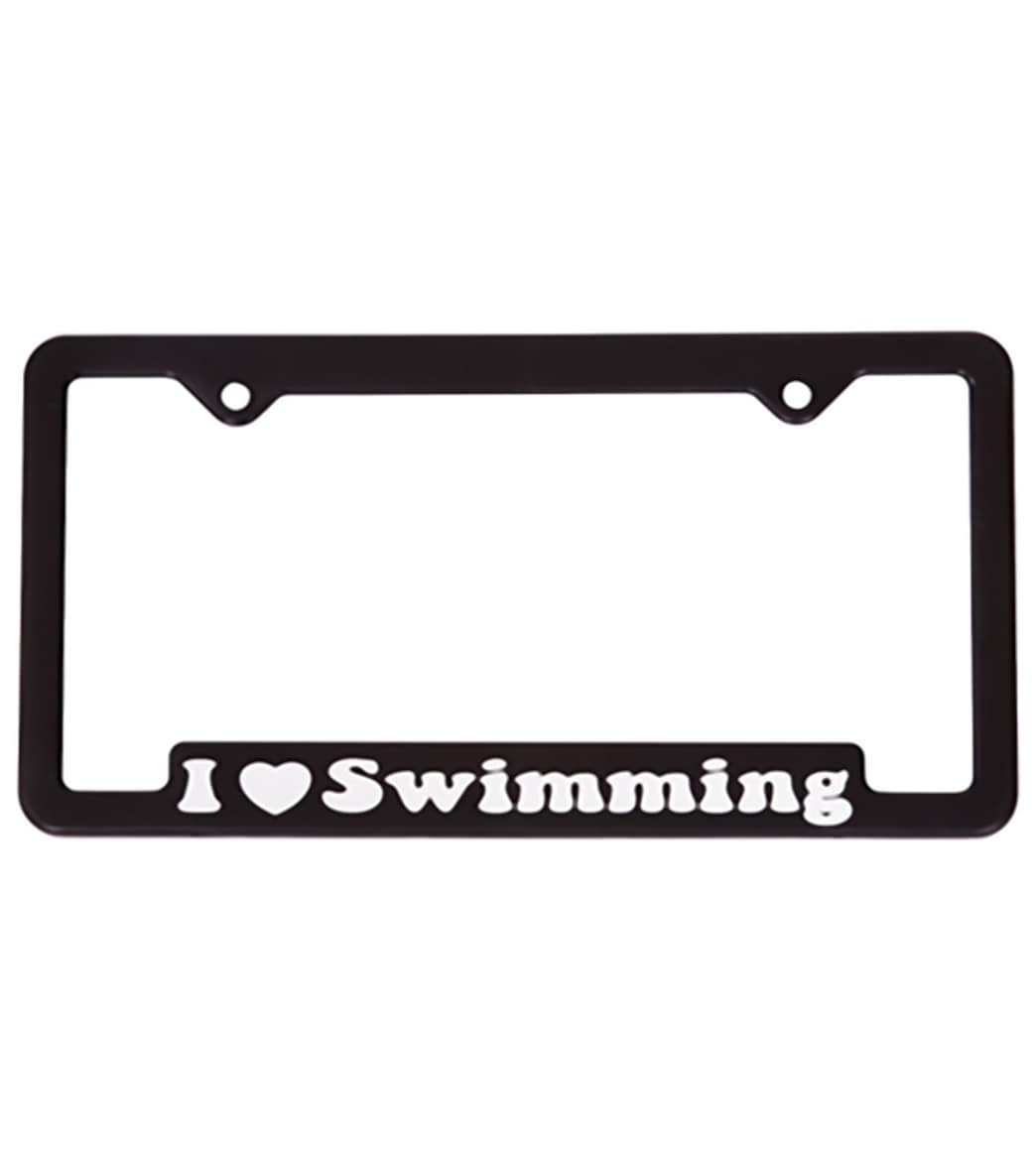 bay six i love swimming license plate at swimoutlet com