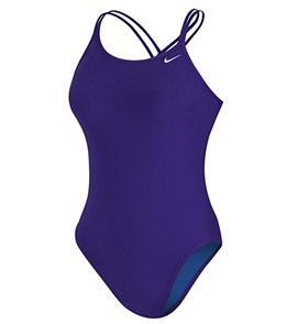 b897466938e SwimOutlet.com Exclusive Nike Swim Solid Spider Back One Piece Tank Swimsuit  ...