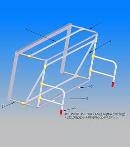 AntiWave Universal Wall Goal Deck Mounts