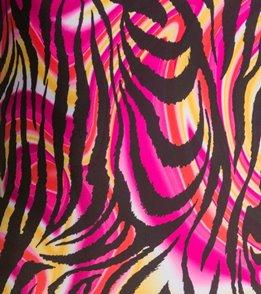 Illusions Safari Jazz  Black/Pink/Yellow Thin Strap One Piece Swimsuit