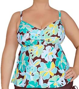 42cf268eac762 Beach House Waikiki Floral Plus Size Tankini Top at SwimOutlet.com ...