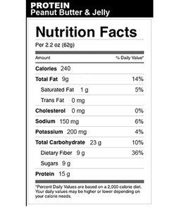 Bonk Breaker Peanut Butter & Jelly High Protein Bars (12 Pack)