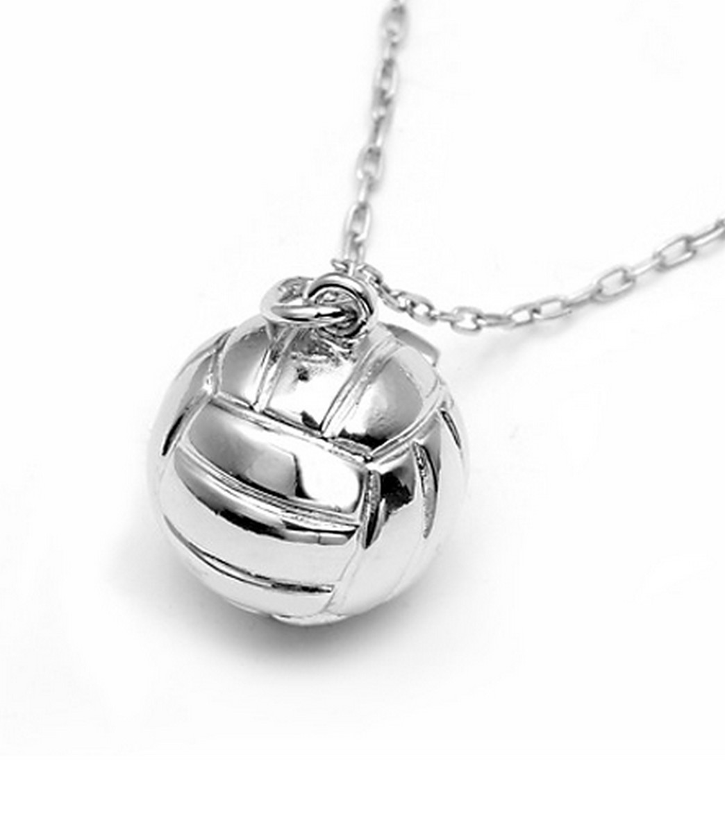 718c49cb0563e Sports Collection Jewelry Large Water Polo Ball Pendant Rhodium Plated at  SwimOutlet.com