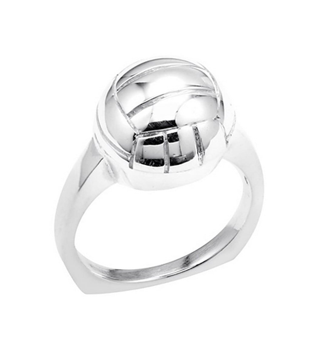 f4a14099b80d9 Sports Collection Jewelry Silver Water Polo Ring Rhodium Plated at  SwimOutlet.com
