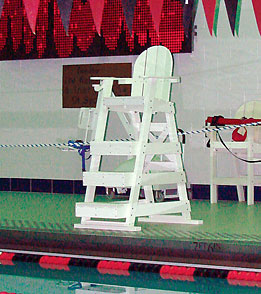 Tailwind Recycled Plastic Lifeguard Chair w/3 Steps