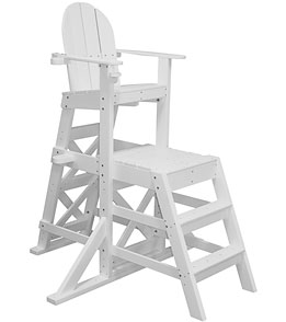Tailwind Medium Recycled Plastic Lifeguard Chair w/Front Ladder