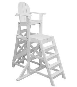 Tailwind Tall Recycled Plastic Lifeguard Chair w/Front Ladder