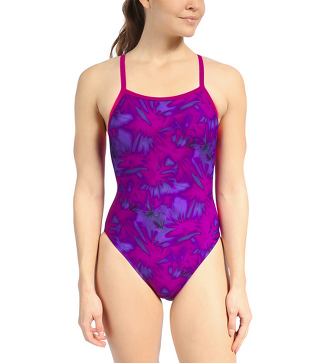 1c704f2f6f4ed Waterpro Purple Paintball One Piece Swimsuit at SwimOutlet.com