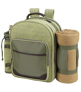 Picnic at Ascot Hamptons Picnic Backpack for Four With Blanket