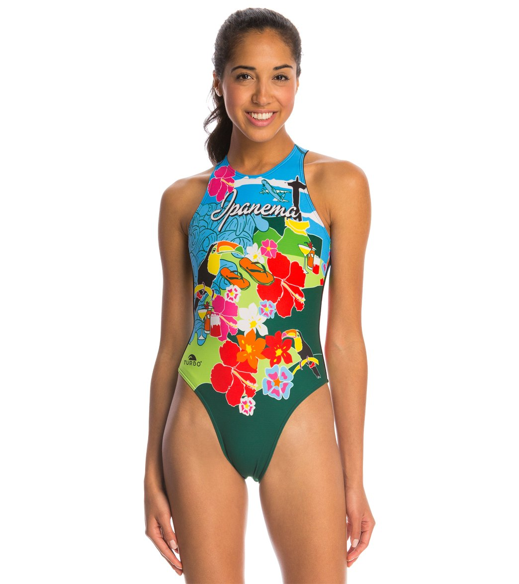 0a4518863ae31 Turbo Women s Rio Water Polo Suit at SwimOutlet.com - Free Shipping
