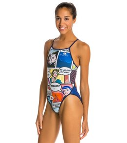 Turbo Comic Blue/Black One Piece Swimsuit