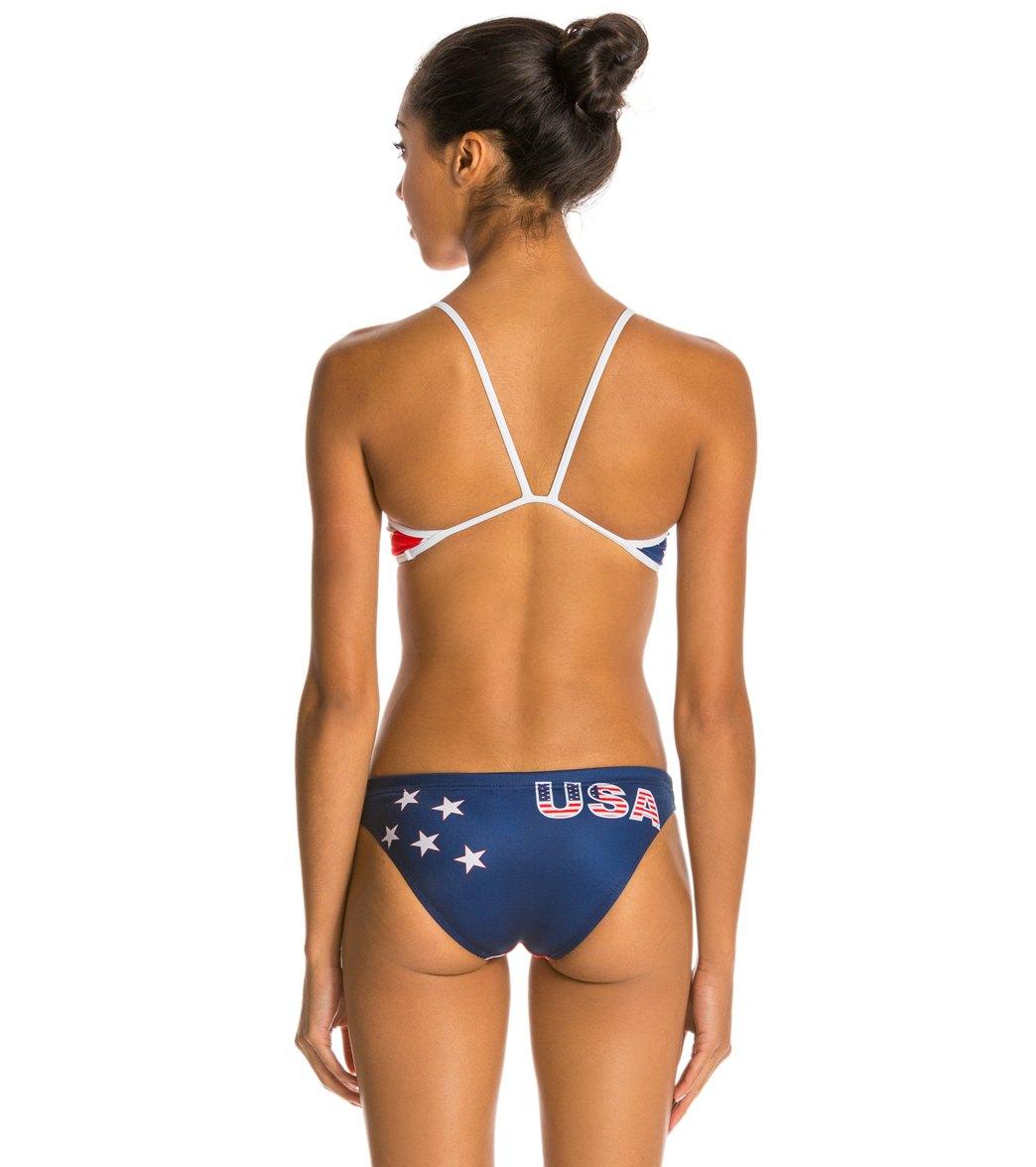 ed1926ce94 Turbo USA Flag Red White Blue Bikini Swimsuit Set at SwimOutlet.com ...