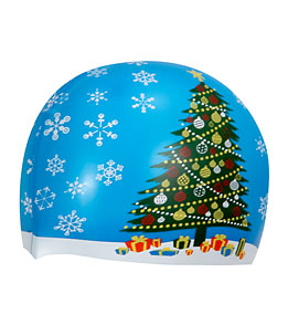 Sporti Christmas Tree Silicone Swim Cap at SwimOutlet.com