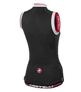 Castelli Women s Perla Sleeveless Full Zip Cycling Jersey at ... 282d384b8