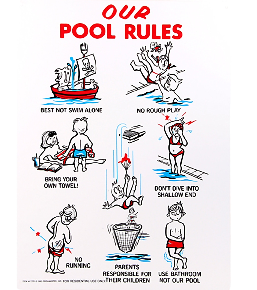 Poolmaster Our Pool Rules 18 X 24 Sign At