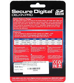 Delkin Devices 8GB Pro Class 10 SDHC Memory Card