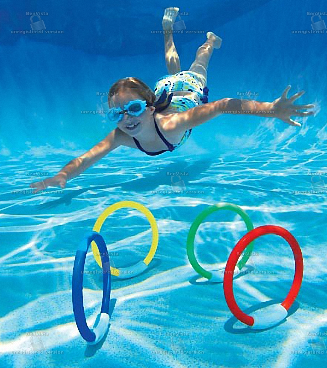 Intex underwater fun rings at for Two player swimming pool games