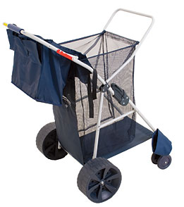 Rio Brands Deluxe Wonder Wheeler w/ Wide Wheels Beach Cart