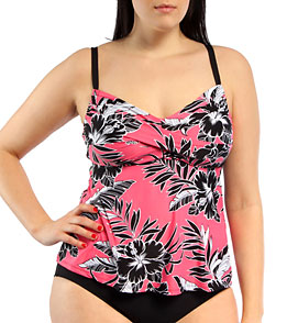 fb2745be5a14a Beach House Honolulu Floral Plus Size Tankini Top at SwimOutlet.com ...