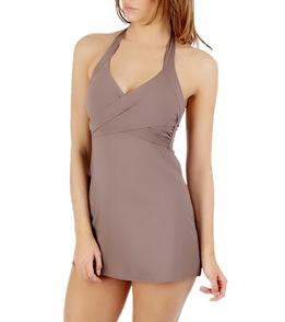 8f0432b766 Calvin Klein Women's Solid Crossover Swim Dress at SwimOutlet.com ...