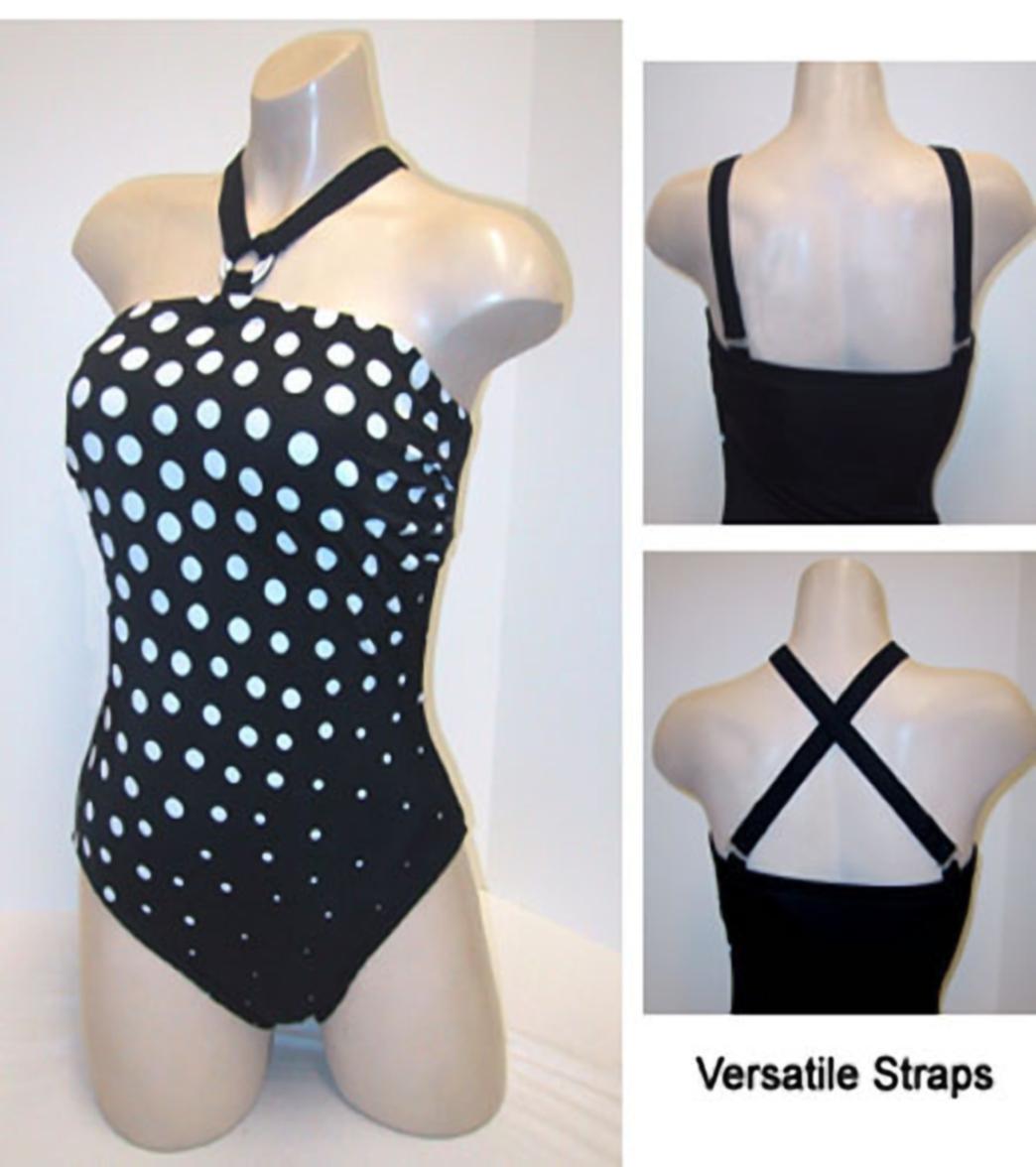 8d6723e6fe Carol Wior Slimsuit Tiny Bubbles Bandeau at SwimOutlet.com - Free ...