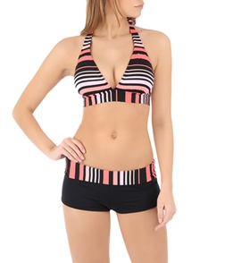 0f6def957a993 Jag Swimwear Ombre Stripe Fold Over Boyleg Bikini Bottom at ...