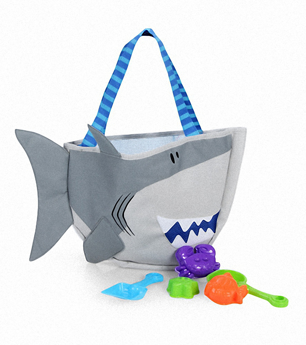 Stephen Joseph Kids Shark Beach Tote Includes Sand Toy