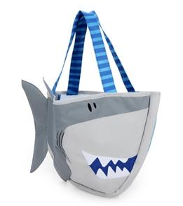 Stephen Joseph Kids' Shark Beach Tote (Includes Sand Toy Set)