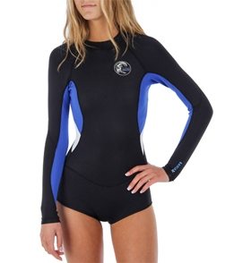 1da62d3888 O Neill Women s Bahia 2MM L S Short Springsuit at SwimOutlet.com ...