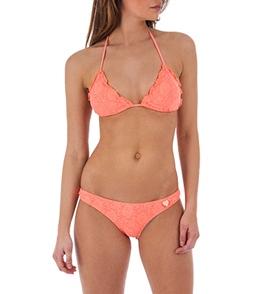 Body Glove Swimwear Womens Lace Brasilia Slider Triangle Bikini Top