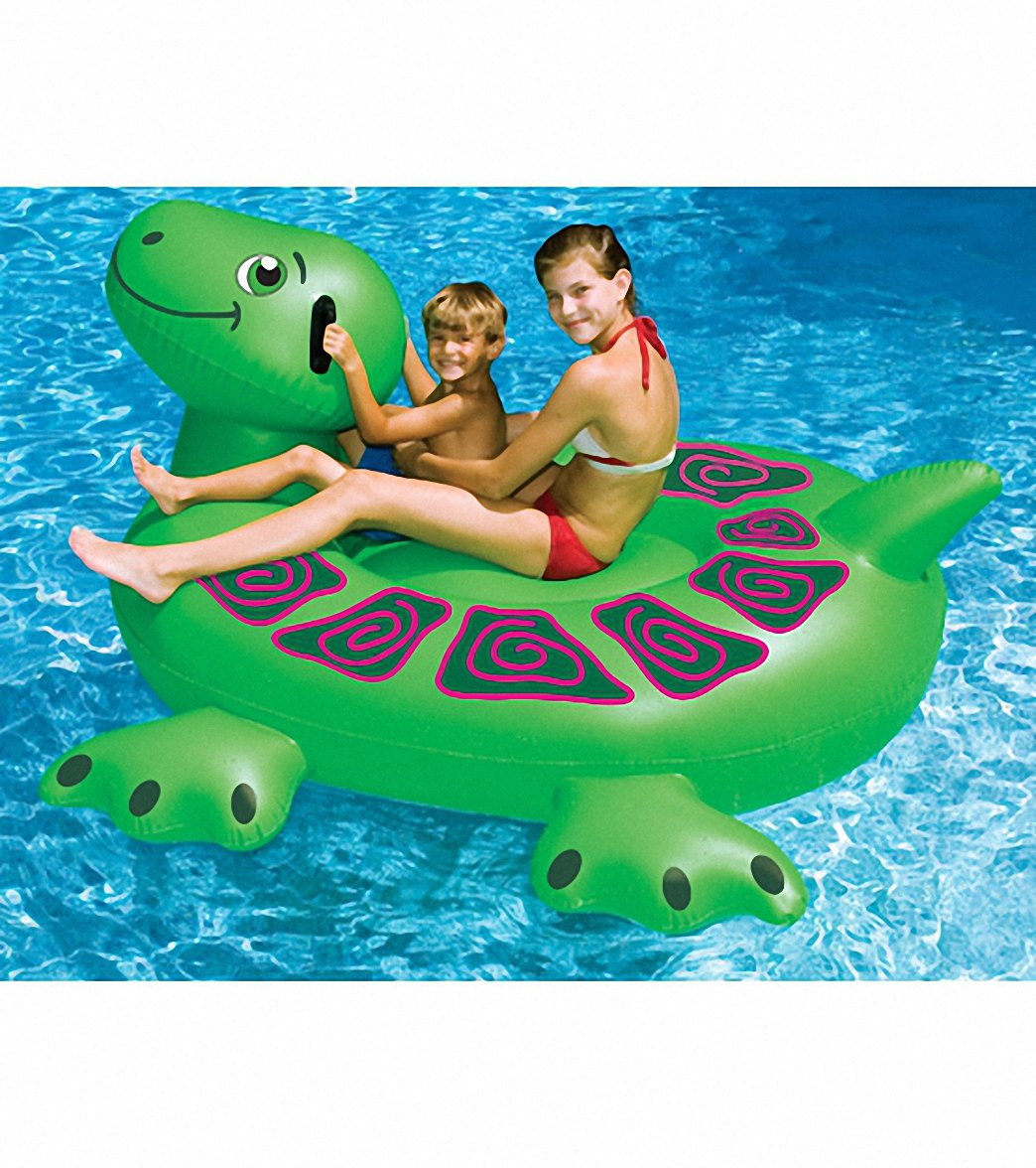 Swimline Giant Turtle Ride-On Pool Float at SwimOutlet.com