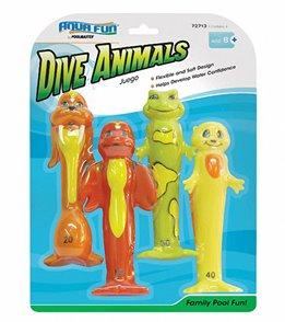 Poolmaster Soft Funny Dive Animals (Set of 4)