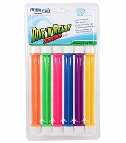 Poolmaster Aqua Fun Dive 'N' Relay Sticks- 6 Pack