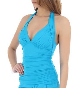 6af24e7f34 La Blanca Samba Solids Halter Goddess Tankini Top at SwimOutlet.com ...