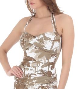 7722d7bf93 ... Tommy Bahama Swimwear Coconut Grove Palm Trees Halterkini Bikini Top ...