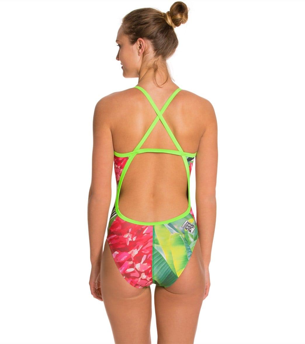 f5c30babda0 HARDCORESPORT Women's Red/Green Hula X Back One Piece Swimsuit at ...