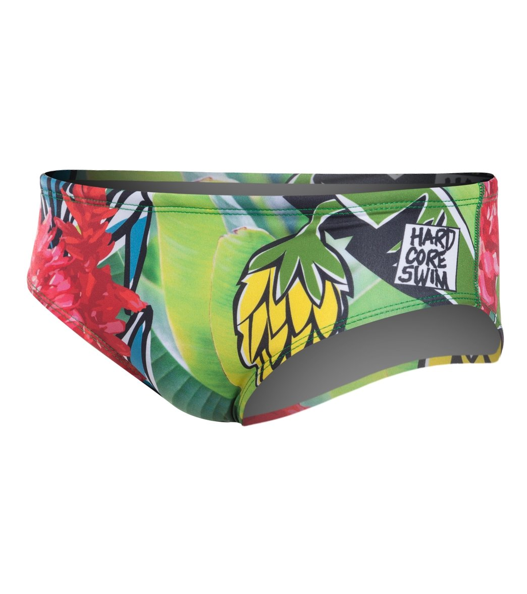 bfd1410acc HARDCORESPORT Men's Hula Red/Green Brief Swimsuit at ...