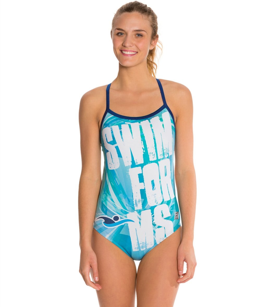 8acc858c1f1 HARDCORESPORT Women's Swim for MS Blue Cali Back Swimsuit at SwimOutlet.com  - Free Shipping