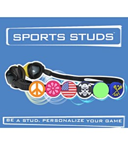 Sports Studs Peace Sign Goggle Accessory