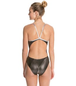 The Finals Funnies Illusion Foil Female Wing Back One Piece Swimsuit