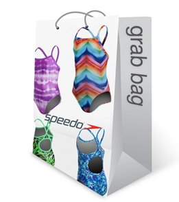 Speedo Girls' Printed One Piece Swimsuit Grab Bag