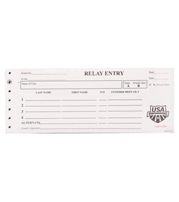 USA Swimming Relay Entry Slip