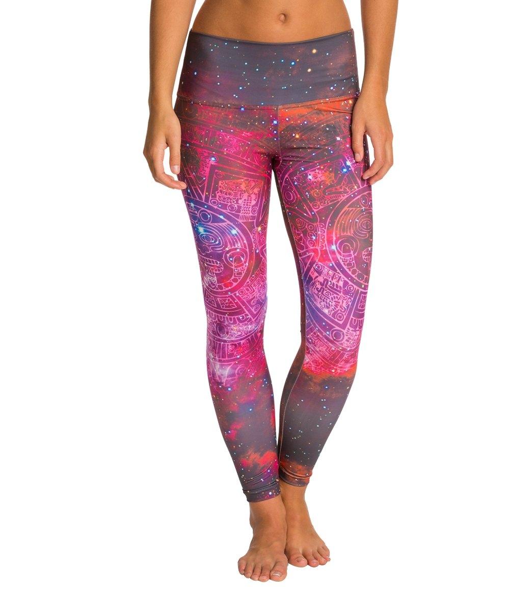 22d0d799defaf Om Shanti Clothing Pink Galaxy Aztec Cluster Performance Legging at ...
