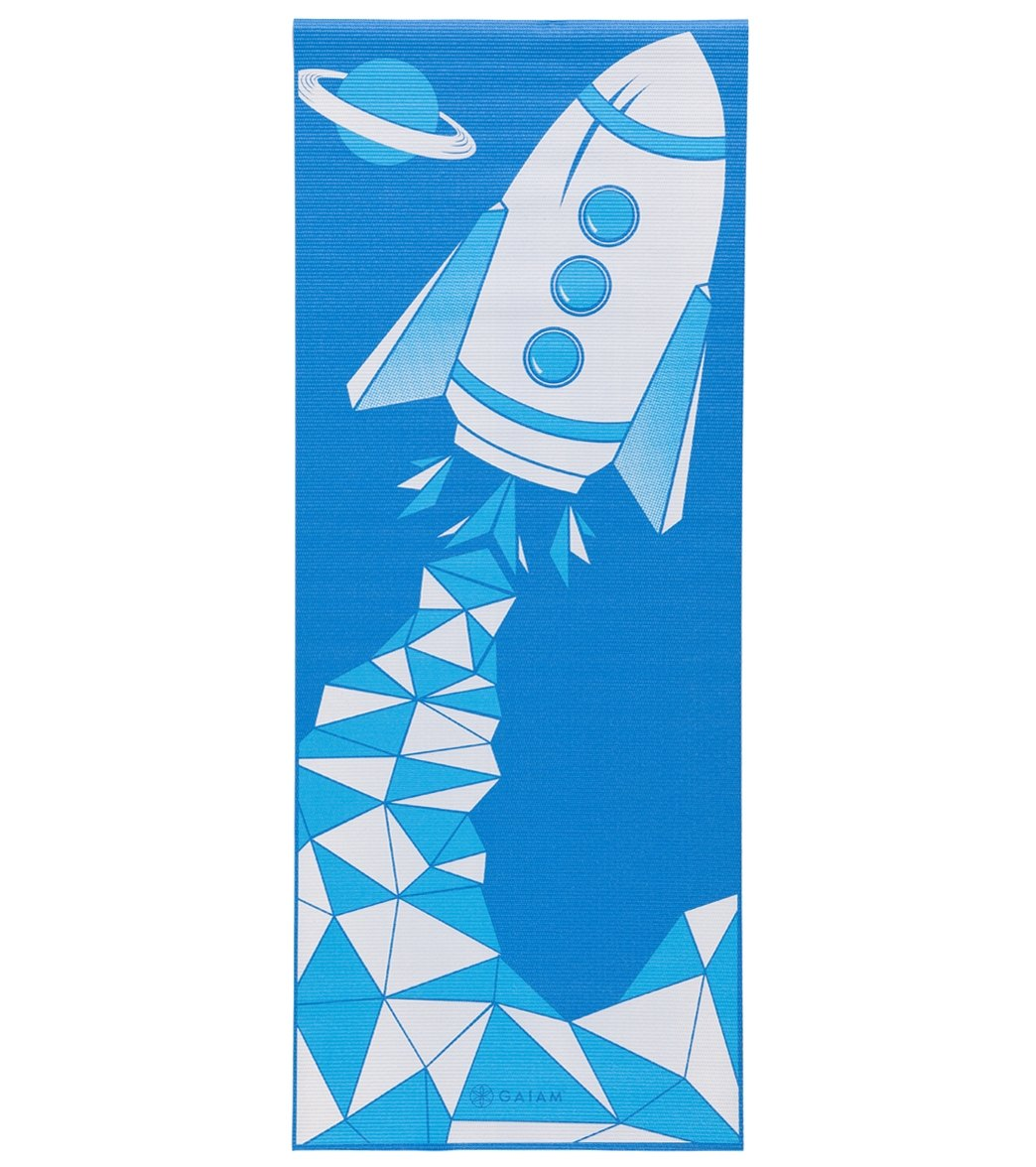 Gaiam Kids Yoga Mat Blue Rocket At Swimoutlet Com